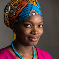Profile portrait of Njideka Akunyili Crosby