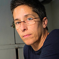 Profile portrait of Alison Bechdel