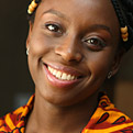 Profile portrait of Chimamanda Adichie
