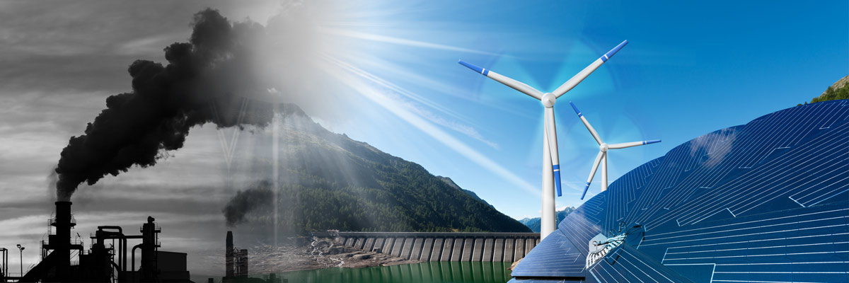 collageofcoalsmokestackandsolar/windenergy