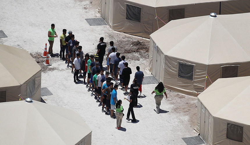 DetainedYouthImmigrantsAtUS-MexicoTentCamp