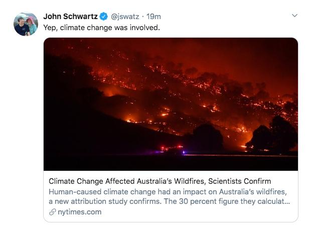 Tweet:ClimateChangeAffectedAustralia'sWildfires,ScientistsConfirm