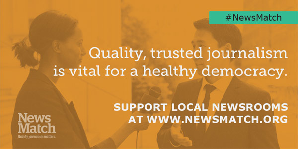 #NewsMatch:Quality,trustedjournalismisvitalforahealthydemocracy.