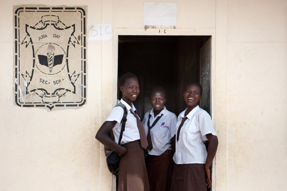 Africangirlsindoorwayofschool