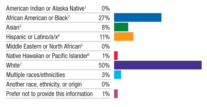 Race and Ethnicity of All Staff