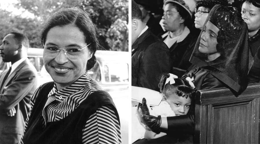 Left:RosaParks;Right:CorettaKing
