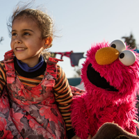 Display photo of Sesame Workshop and the International Rescue Committee