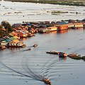 Water dwelling on the lake of Tonle Sap, near Siem Reap, Cambodia