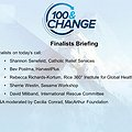 100&Change Finalists Online Briefing thumbnail