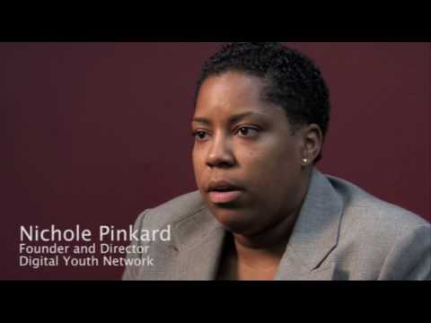 Still image from Nichole Pinkard on the Digital Youth Network