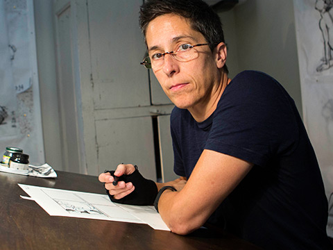 Still image from Cartoonist and Graphic Memoirist Alison Bechdel, 2014 MacArthur Fellow