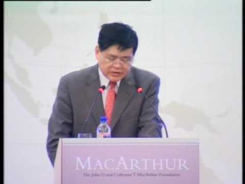 Still image from Prof Wang Jisi at the Launch of the MacArthur Foundation Asia Security Initiative