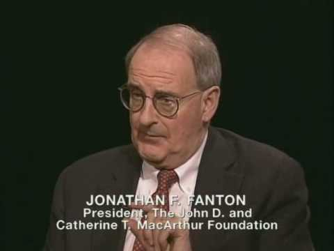 Still image from Jonathan Fanton Interview on The Open Mind