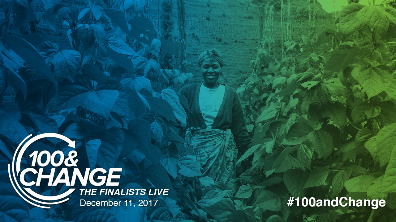 Still image from HarvestPlus | 100&Change: The Finalists Live Presentation