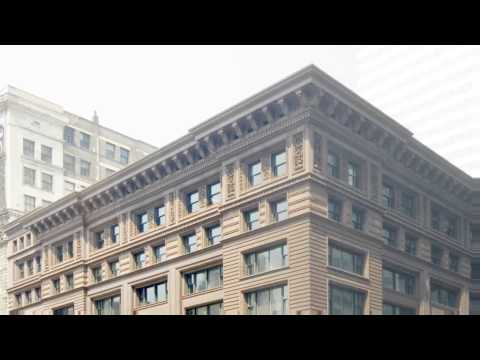 Still image from Construction of the Marquette Building's 21st Century Cornice