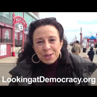 Still image from Maria Hinojosa Invites You to Enter Looking@Democracy Competition
