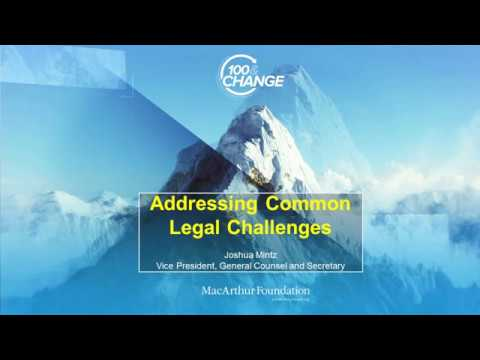 Thumbnail image for 100&Change Webinar 7 – Addressing Common Legal Challenges