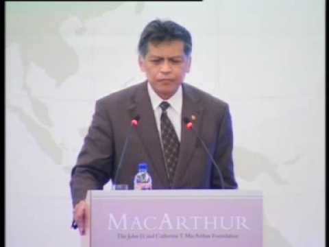Still image from Dr Surin Pitsuwan's Keynote at the Launch of the MacArthur Foundation Asia Security Initiative