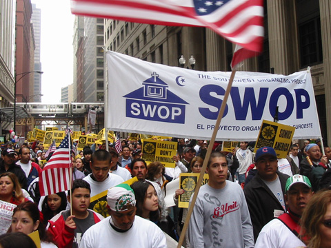 Still image from Southwest Organizing Project