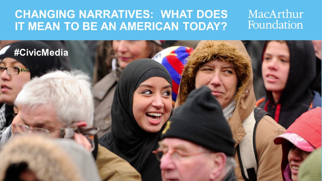 Still image from Changing Narratives: What Does It Mean to Be an American Today?