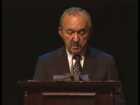Still image from Richard Goldstone Accepts MacArthur Award for International Justice
