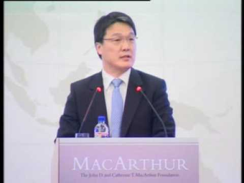 Still image from Dr Kim Byung Kook at the Launch of the MacArthur Foundation Asia Security Initiative